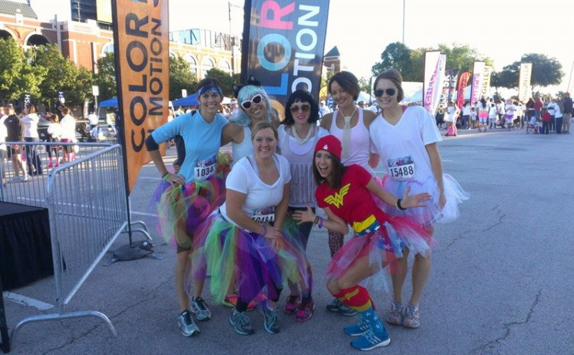 wonder woman color run