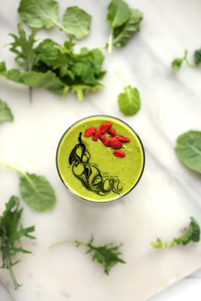 blissfulbasil kale smoothie