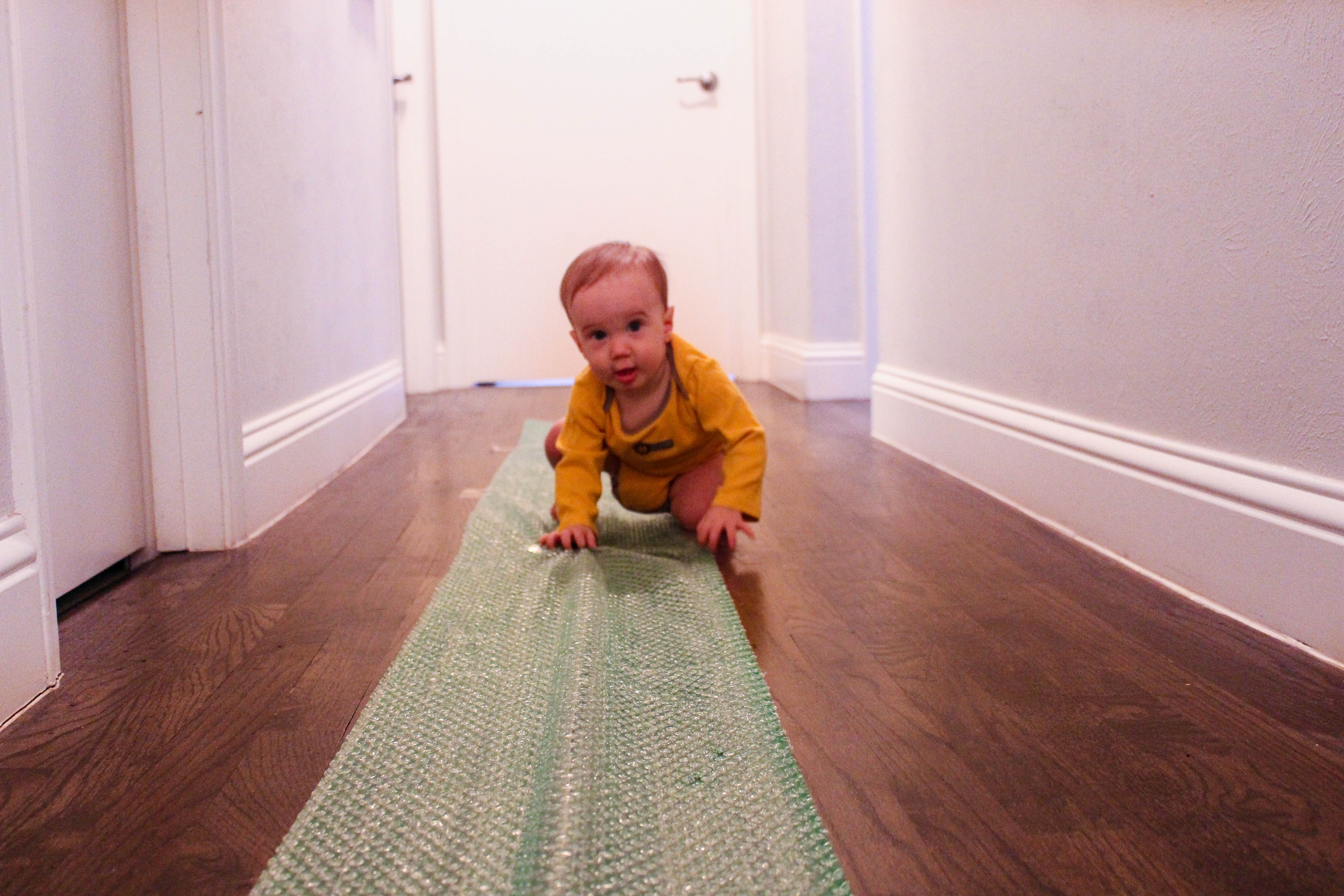 Sensory Play For Babies Bubble Wrap Walkway Or Crawlway Run