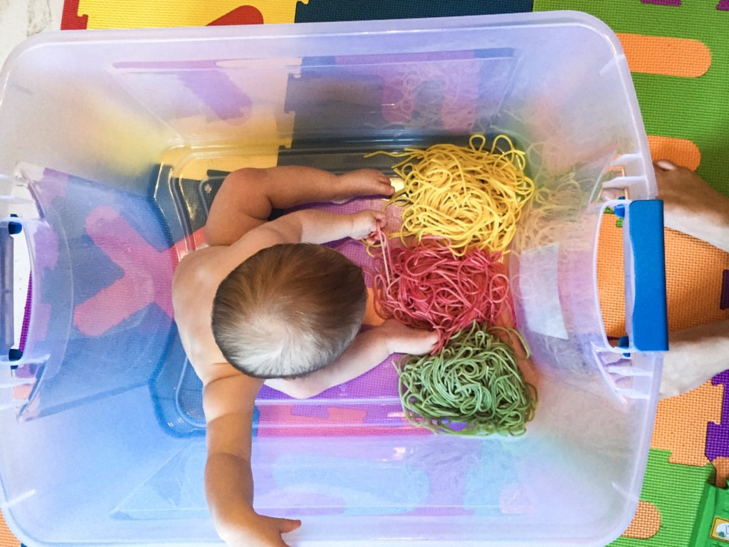 Sensory Play For Babies Oodles Of Noodles Run Like Kale