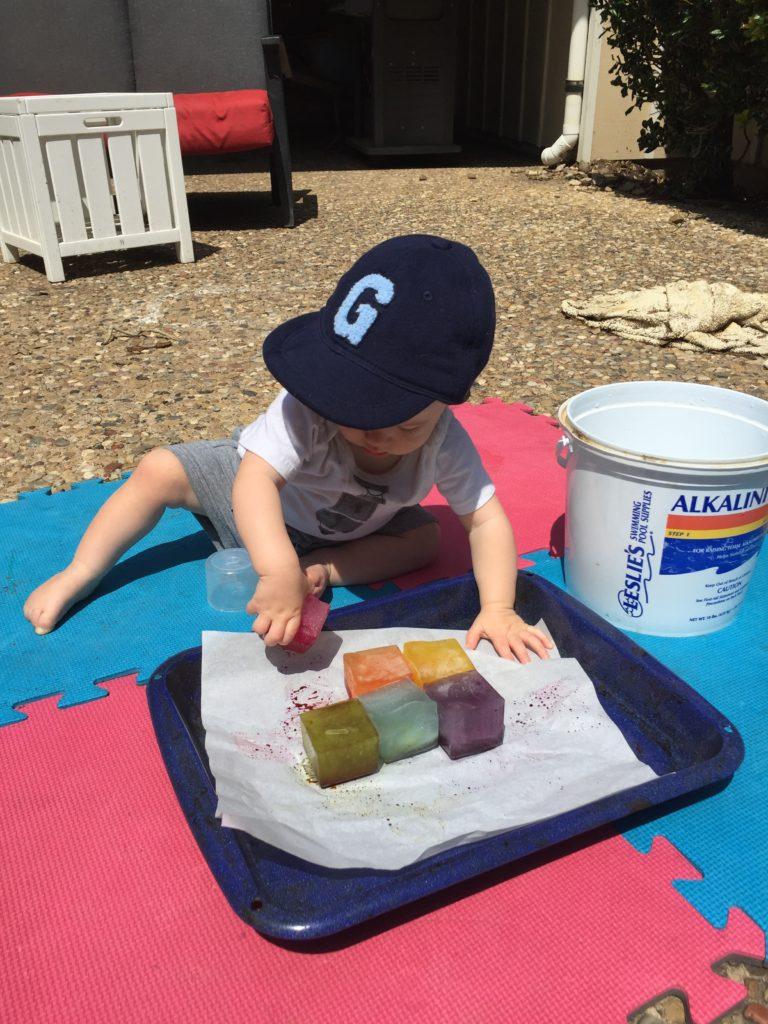 Sensory Play For Babies Ice Ice Baby Run Like Kale
