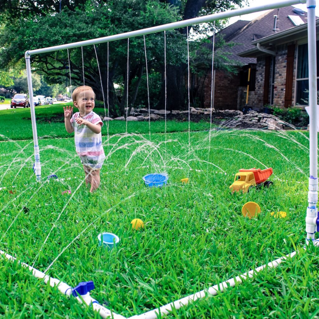 DIY pvc pipe splash pad