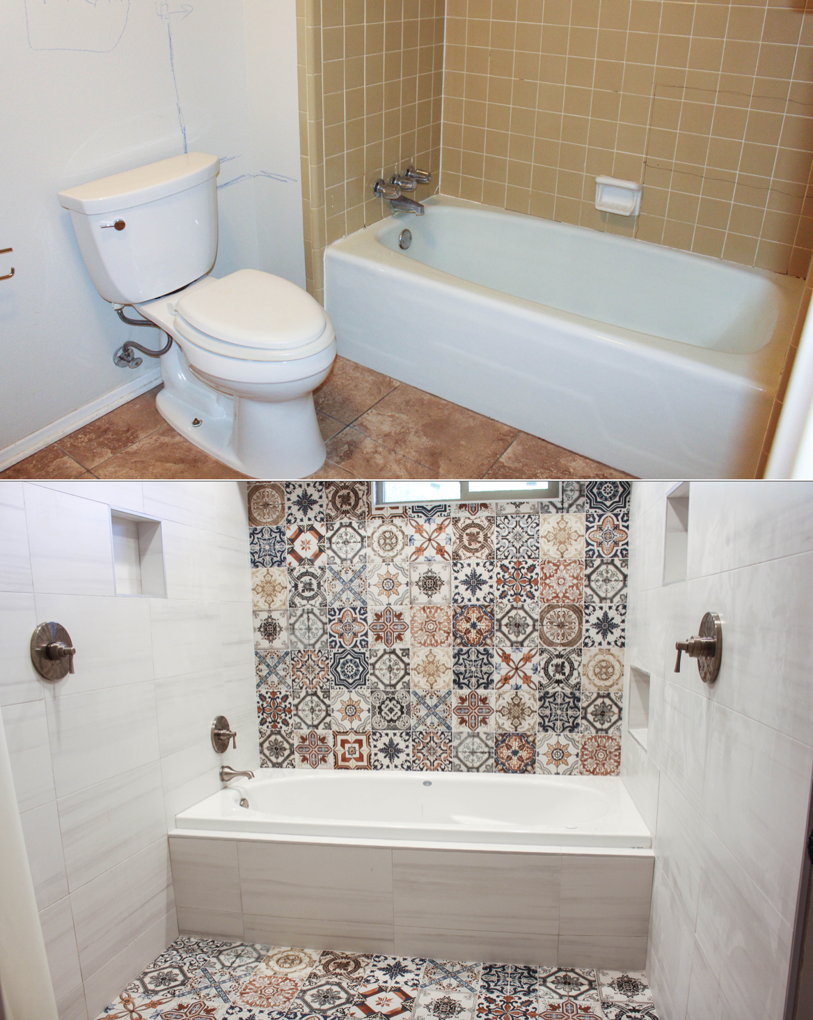 Remodeling Bathroom While Pregnant before and after: bathroom remodel - run like kale