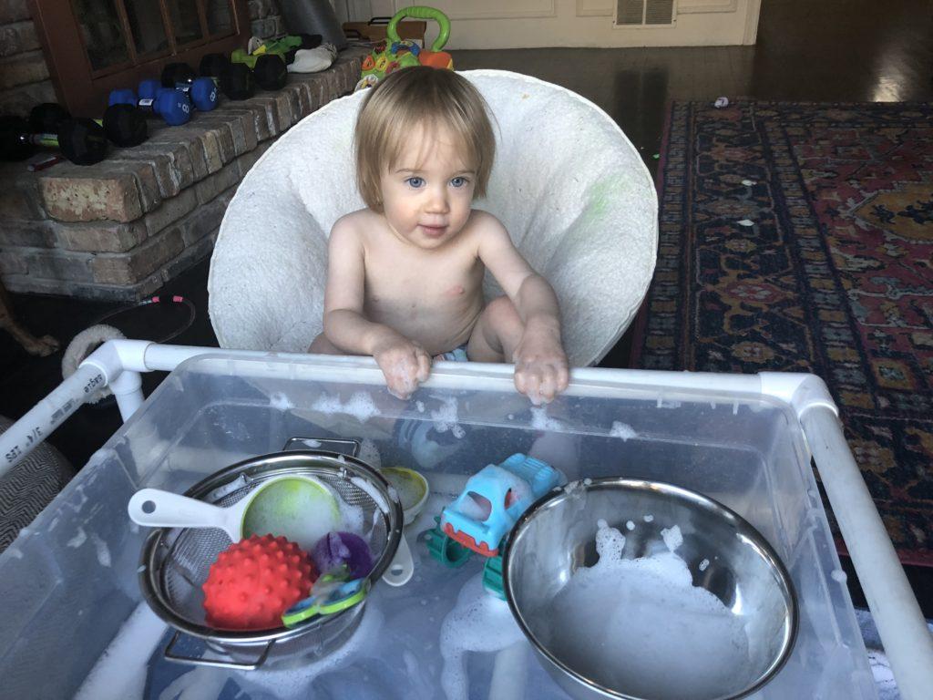 foamy sensory play