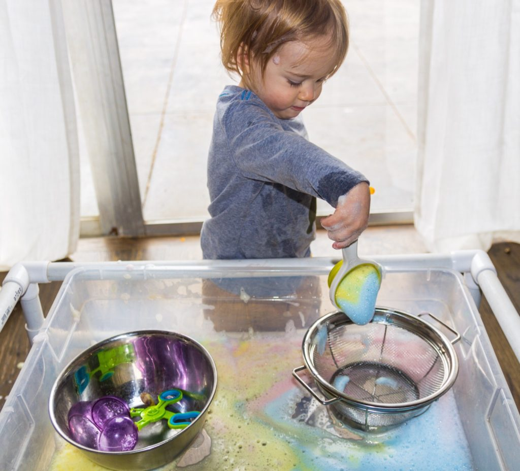 good clean sensory play
